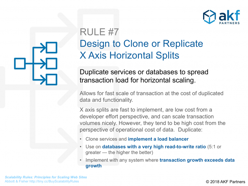 akf scale cube x axis infographic Scalability Rules 7