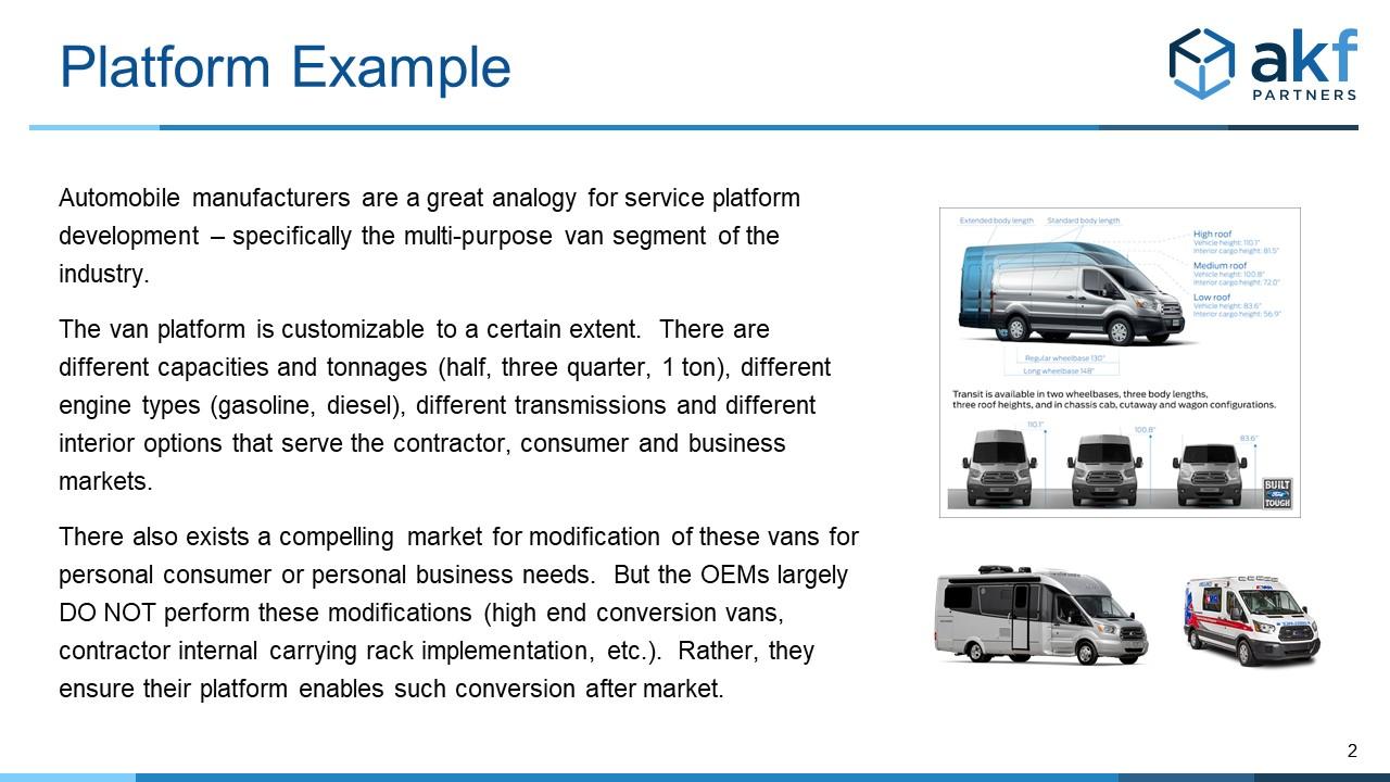 Platform Van Analogy