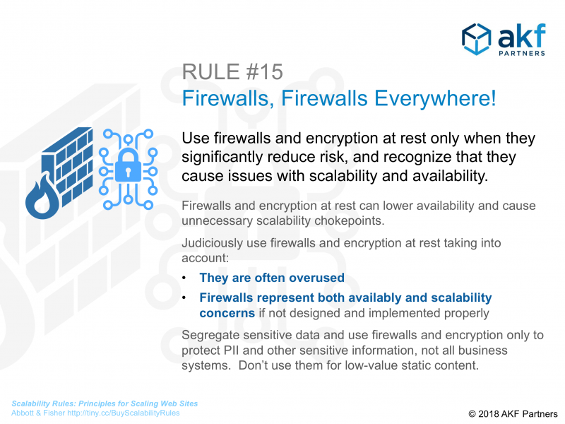 AKF Partners Scalability Rule 15 Firewalls Everywhere