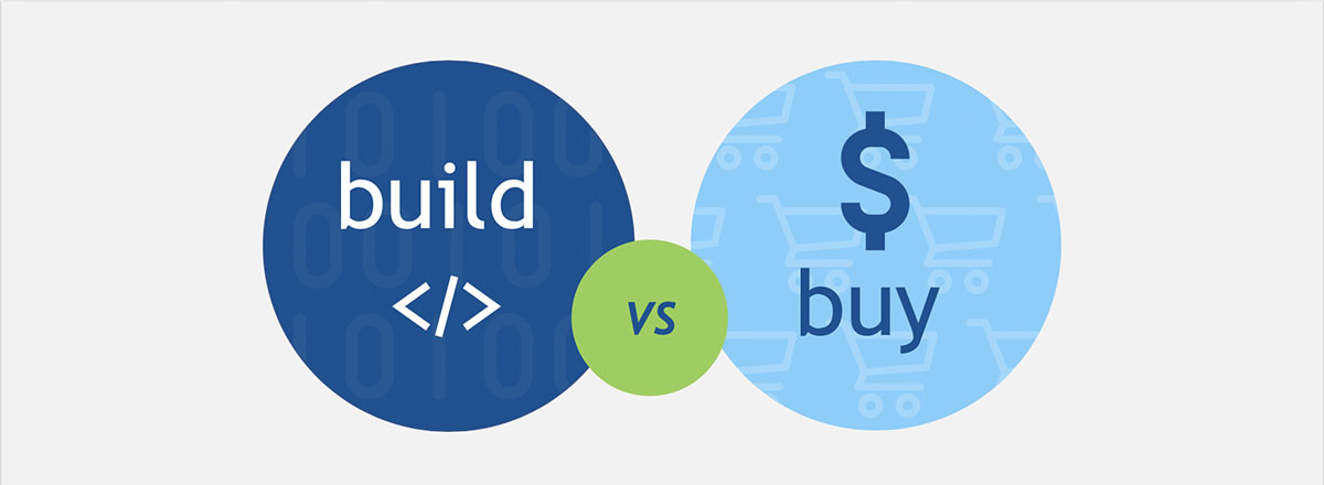 build vs buy graphic