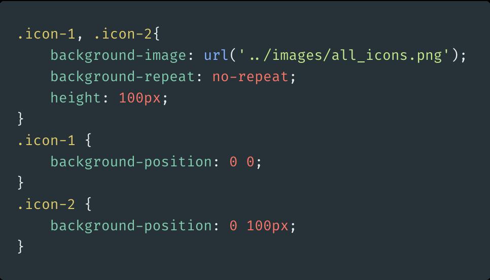 image sprite code