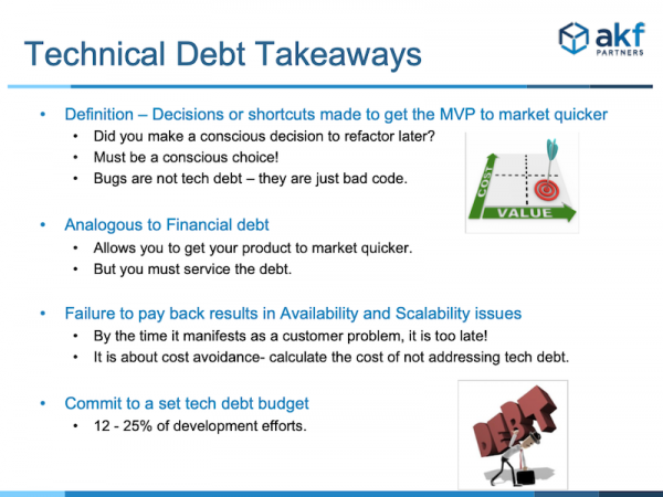 Tech Debt Takeaways